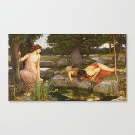 John William Waterhouse - Echo and Narcissus Canvas Print
