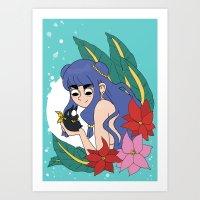 Shampoo and P-chan Art Print