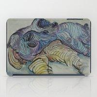 hippo iPad Cases featuring Hippo by SamKellyArt
