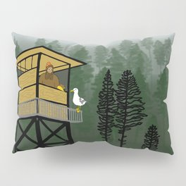 Mr Big & Gerry the Seagull from Flock of Gerrys Gerry Loves Seagulls by Seasons Kaz Sparks Pillow Sham