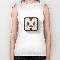 minnie mouse Biker Tanks featuring minnie mouse cutie by designoMatt