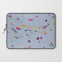 Trinket Town - Abstract painting by Jen Sievers Laptop Sleeve