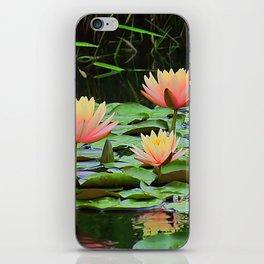 Glowing Waterlilies iPhone Skin