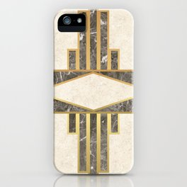 Luxurious gold and marble iPhone Case