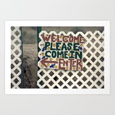 Always welcome Art Print