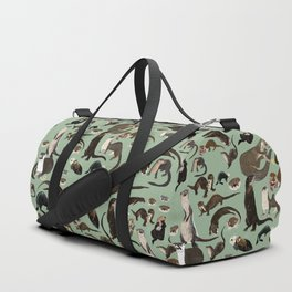 Otters of the World pattern Duffle Bag