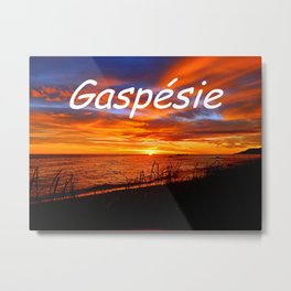 Gaspesie Sunrise Metal Print