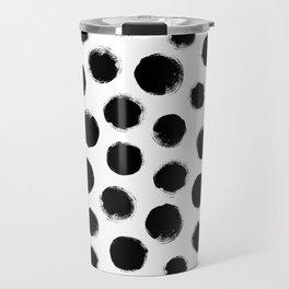 monochrome polka dots Travel Mug