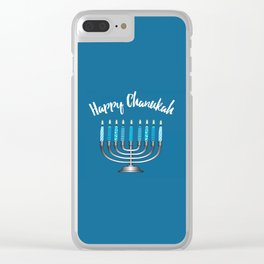 Happy Chanukah Clear iPhone Case