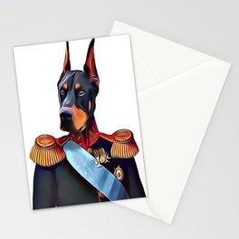 Field Marshal Doberman Pinscher Stationery Cards
