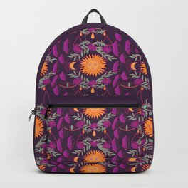 Mystic Night Sun and Moon Pattern Backpack