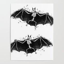 Skeletal Bat Poster