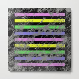 Linear Breakthrough - Abstract, geometric, textured artwork Metal Print