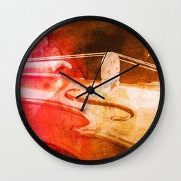 Color Violin Wall Clock
