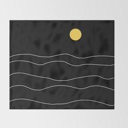 Black Ocean Throw Blanket