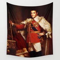 elvis presley Wall Tapestries featuring The King  |  Elvis Presley by Silvio Ledbetter