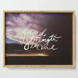 Find Strength in Me Serving Tray