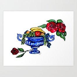 Classic Fruit Bowl Digital Enhanced Art Print