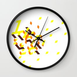 La colline mélancolique blanche Wall Clock