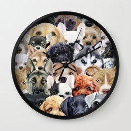 Dog All start, Dog illustration original painting print Wall Clock