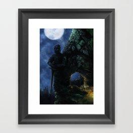 Mountain Pass Framed Art Print