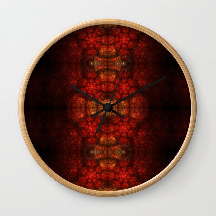 Fractal Art - Kaleidoscope Ammonite Wall Clock