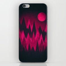 Dark Triangles (Peak Woods) Abstract Grunge Mountains Design (red/black) iPhone Skin
