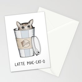 Latte Mac-cat-o Stationery Cards