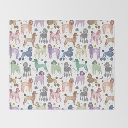 Poodles by Veronique de Jong Throw Blanket