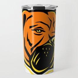 Bullmastiff Dog Mascot Travel Mug