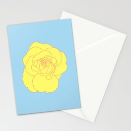 a yellow rose Stationery Cards