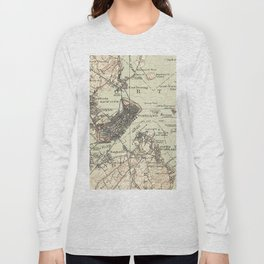 Vintage Map of Portland Maine (1914) Long Sleeve T-shirt