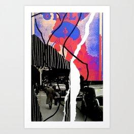 Girls and Boys Art Print