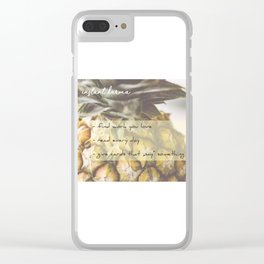 Instant Karma Clear iPhone Case