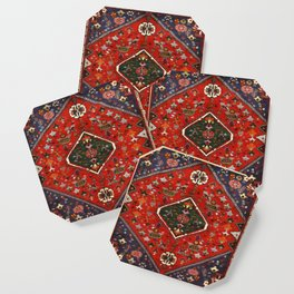 N65 - Colored Floral Traditional Boho Moroccan Style Artwork Coaster