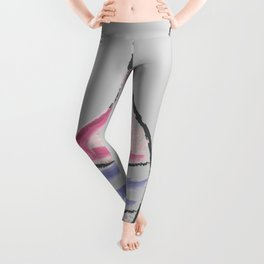 Hand Drawn Bottle of Wine Leggings