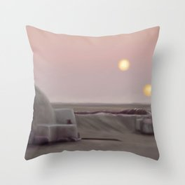 Twin Suns Dessert Throw Pillow