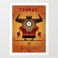 taurus Art Prints featuring TAURUS by Angelo Cerantola