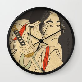 Sharaku #9 Wall Clock
