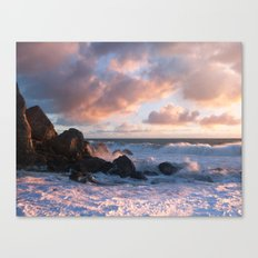 White With Foam Canvas Print