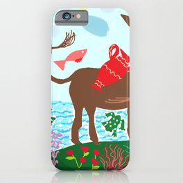 Painting for kids -The donkey iPhone Case