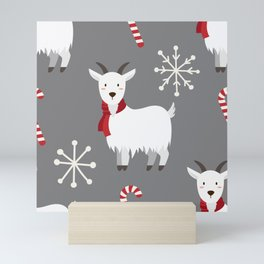 Christmas Candy Goat Mini Art Print