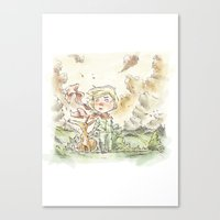 le petit prince Canvas Prints featuring Le petit prince by Lionel Hotz