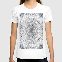 Black&white Mandala - & Grey Blue T-shirt