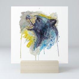 Black Bear Head Mini Art Print