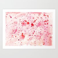 Red Drops Art Print