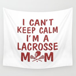 I'M A LACROSSE MOM Wall Tapestry