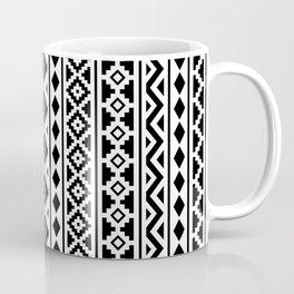 Aztec Essence Pattern II Black on White Coffee Mug