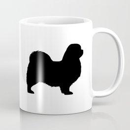 Black Tibetan Spaniel Silhouette Coffee Mug