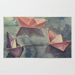 Boats on the wet sett Rug